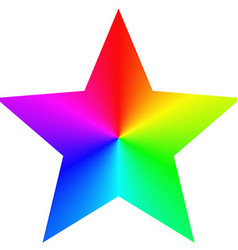 Isolated gradient rainbow star design template vector image vector image