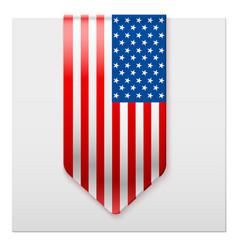 realistic ribbon of american flag vector image vector image