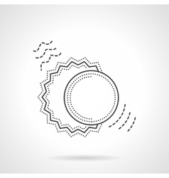 Sun and moon flat line design icon vector image