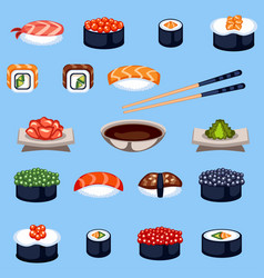 sushi food traditional asia japan meal vector image