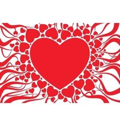 valentine card decoration vector image vector image