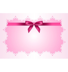Baby pink frame vector image
