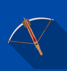 crossbow icon flate single weapon icon from the vector image