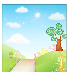 Fresh Background nature vector image vector image