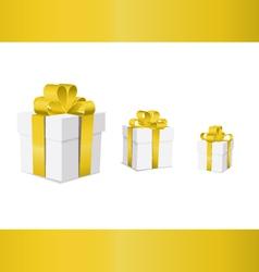 gift box ribbon yellow v vector image