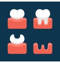 Teeth Icons Set for Dental Design vector image