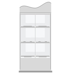 White display rack vector image