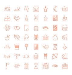 49 traditional icons vector image