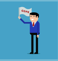 a man with the gdpr flag vector image