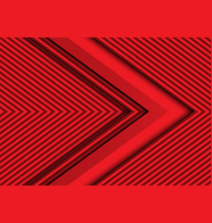 abstract red arrow pattern design modern vector image