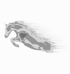 binary horse vector image