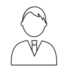 black and white avatar man graphic vector image