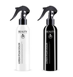 black and white sprayer cosmetics bottle vector image