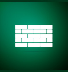 bricks icon isolated on green background vector image