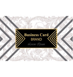 Business card with abstract ornament vector
