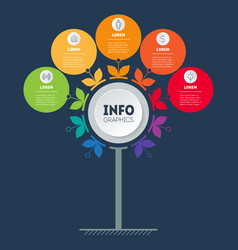 Business strategy presentation or infographics vector
