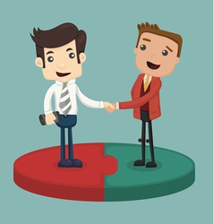Businessman shaking hand vector image
