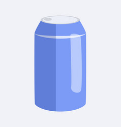 can of soda and beverage vector image