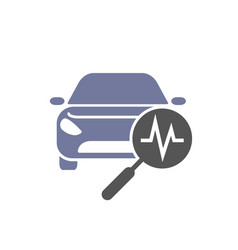 Car diagnostics icon car and search simbols vector
