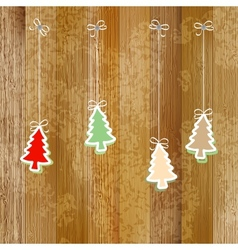 Christmas and New Year card EPS8 vector image