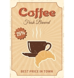 Coffee colored poster vector