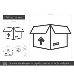 Delivery box line icon vector