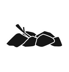 Design bonfire and firewood symbol set vector
