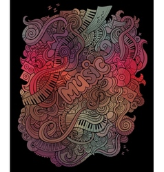 doodles musical art background vector image
