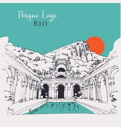 drawing sketch parque lage in rio brasil vector image