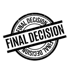 Final Decision rubber stamp vector