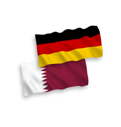 Flags qatar and germany on a white background vector