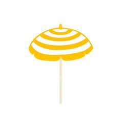 Flat beach sun umbrella icon vector