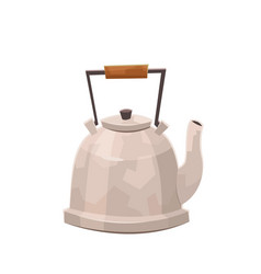flat kettle isolated teapot on vector image