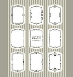 frame design decorate element set 1 vector image