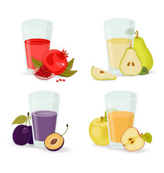 fruit juice collection stock vector image
