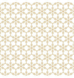 Geometric gold and white floral seamless pattern vector