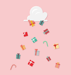 gift boxes falling from cloud vector image