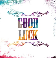 Good luck bstract colorful triangle geometrical vector