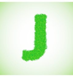 Grass letter J vector