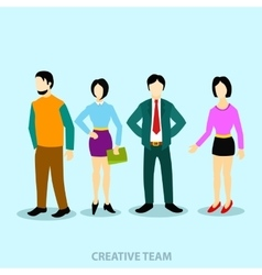 group people flat and business team vector image