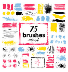 hand draw sketch paintbrush set sketch grunge vector image