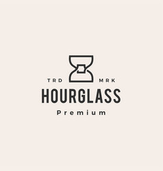 hourglass hipster vintage logo icon vector image