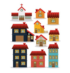House design vector image