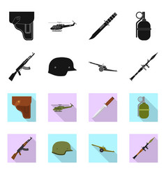 Isolated object weapon and gun symbol vector