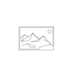 Landscape photo image or picture placeholder flat vector
