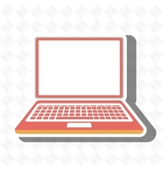 laptop isolated icon design vector image