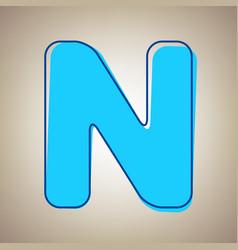 Letter n sign design template element sky vector