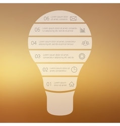 Light bulb line infographic vector image