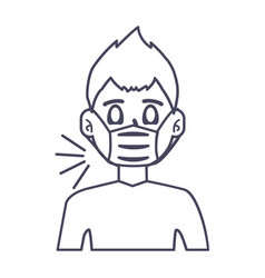 Man with mask icon design vector