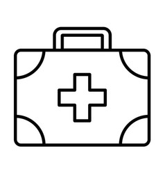 Medical assistance outline icon vector